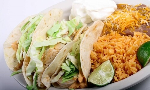 Tacos prepared by Cancun Mexican Grill