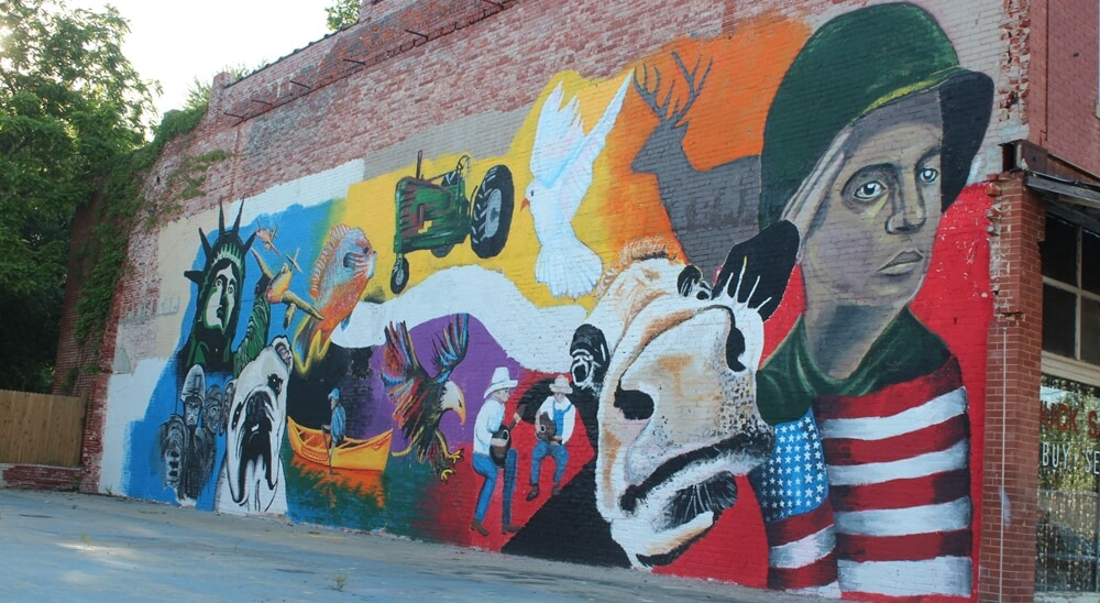 Mural in Dixon, Pulaski County, Missouri