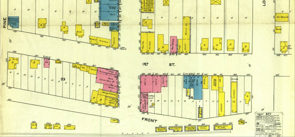 This map of Dixon, Missouri, a fire insurance map, was produced in September 1915 by Sanborn Map Company. It shows building footprints, building material, height or number of stories, building use, lot lines, road widths and water facilities. An interactive version of this map can be viewed at http://cdm16795.contentdm.oclc.org/cdm/fullbrowser/collection/sanbornmaps/id/1069/rv/singleitem/rec/1