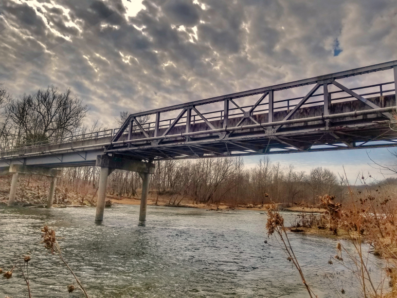 Big Piney River bridge, Fort Leonard Wood. Photo by Amanda Sullivan for Fort Leonard Wood Public Affairs Office.