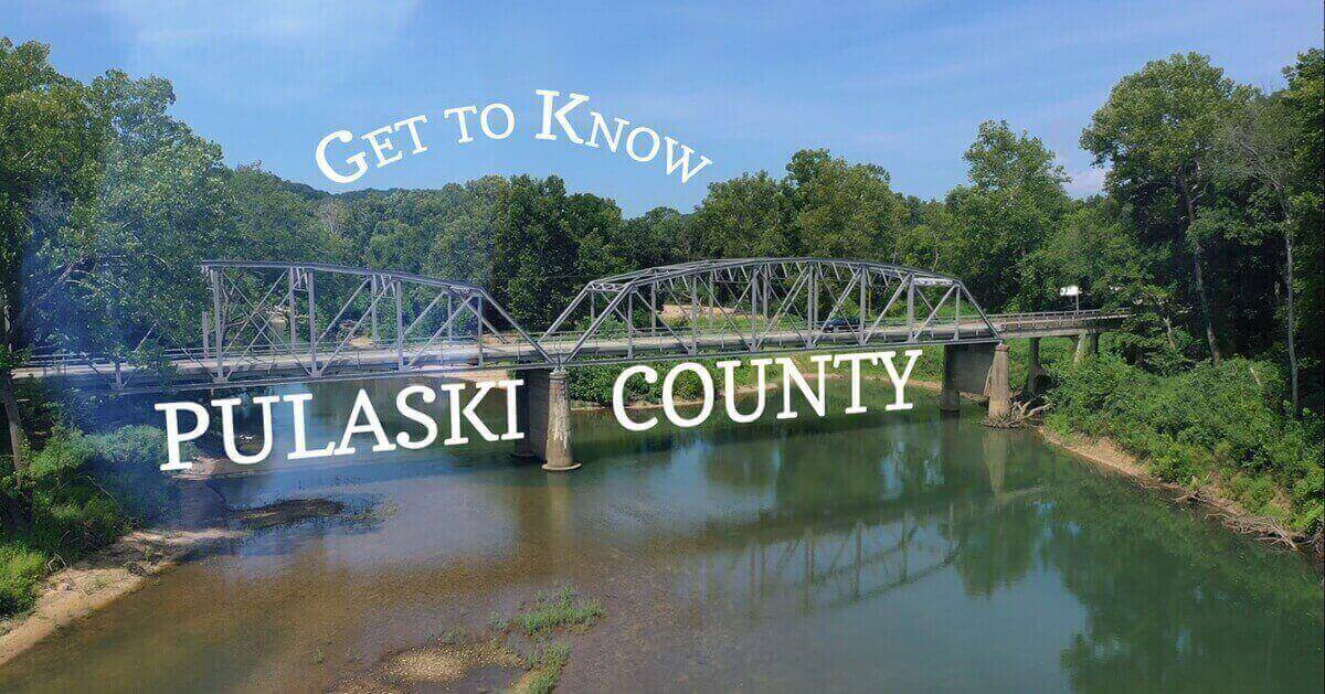 Title splash of Get to Know Pulaski County video
