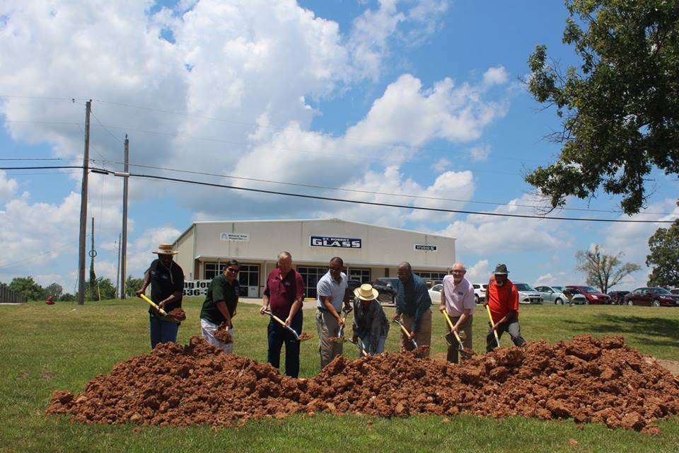 The Ground Breaking ceremony was held July 11, 2017. Image by, and courtesy of, Waynesville-St. Robert Chamber of Commerce.