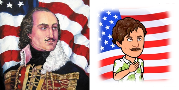 American Revolutionary War Hero Casimir Pulaski (left) and reimagined Casimir 2.0 (right)