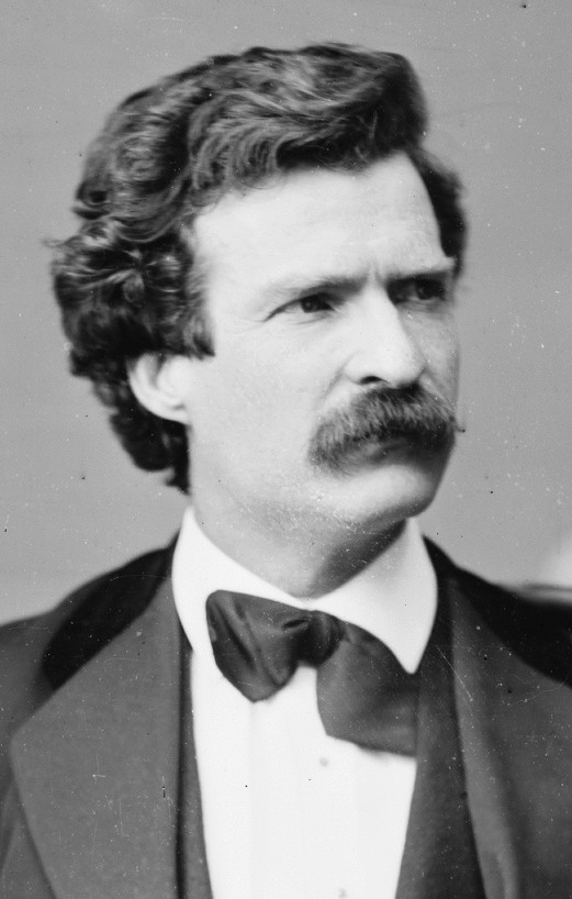 Samuel Clemens, pen name Mark Twain, as photographed in 1871 by Mathew Brady. Retrieved via Library of Congress Prints and Photographs division. This work is in the public domain in its country of origin and other countries and areas where the copyright term is the author's life plus 100 years or less.