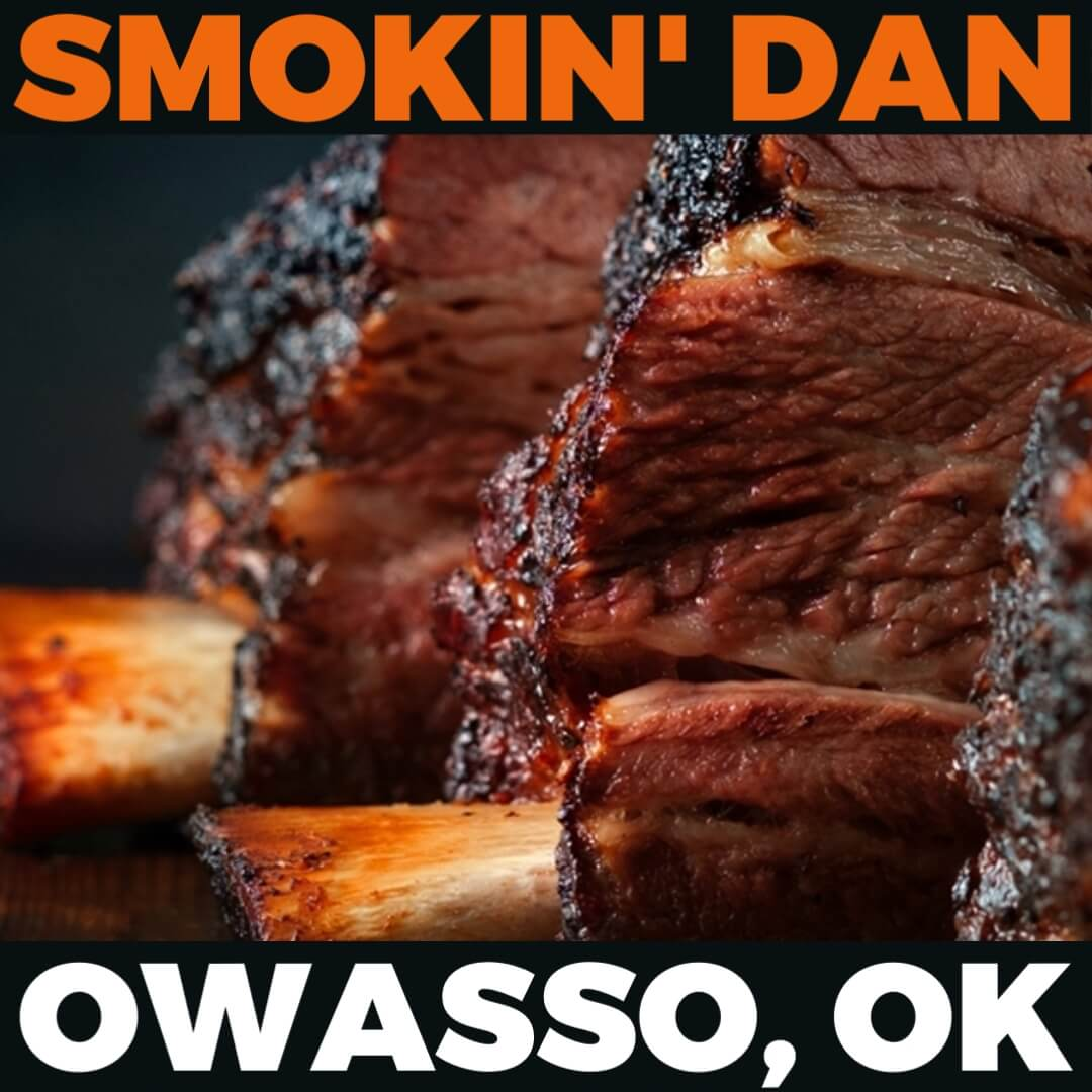 Kickin' It Route 66 Barbecue Challenge graphic for Smokin' Dan based in Owasso, Oklahoma