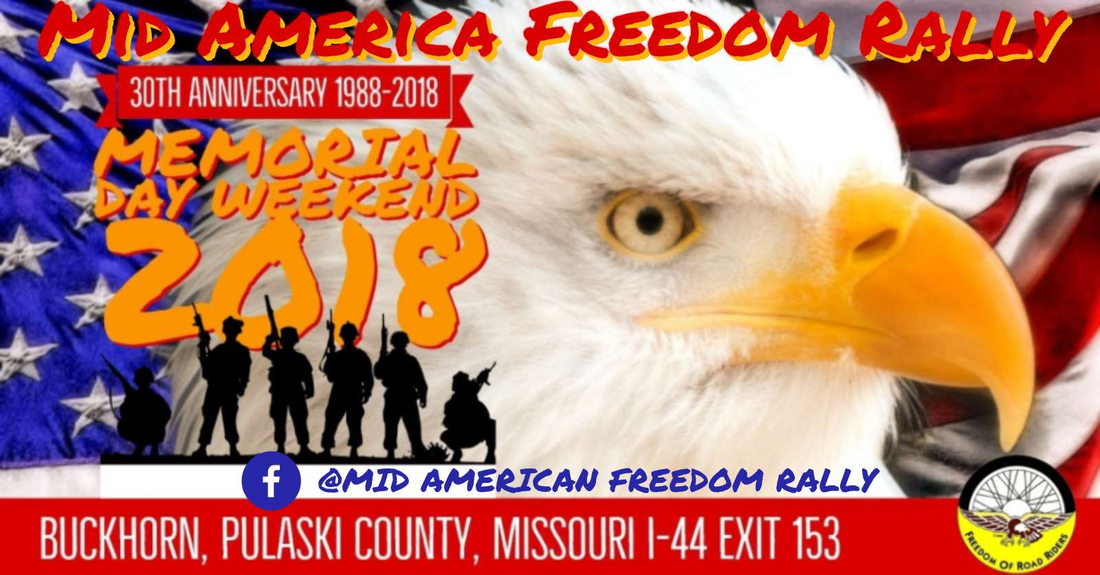 Mid America Freedom Rally has been a Memorial Day tradition for Midwest based motorcyclists for nearly three decades.