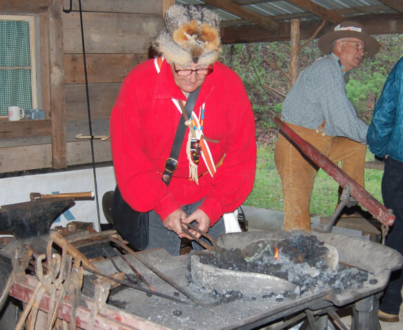 Blacksmithing is part of the Mountain Man Experience