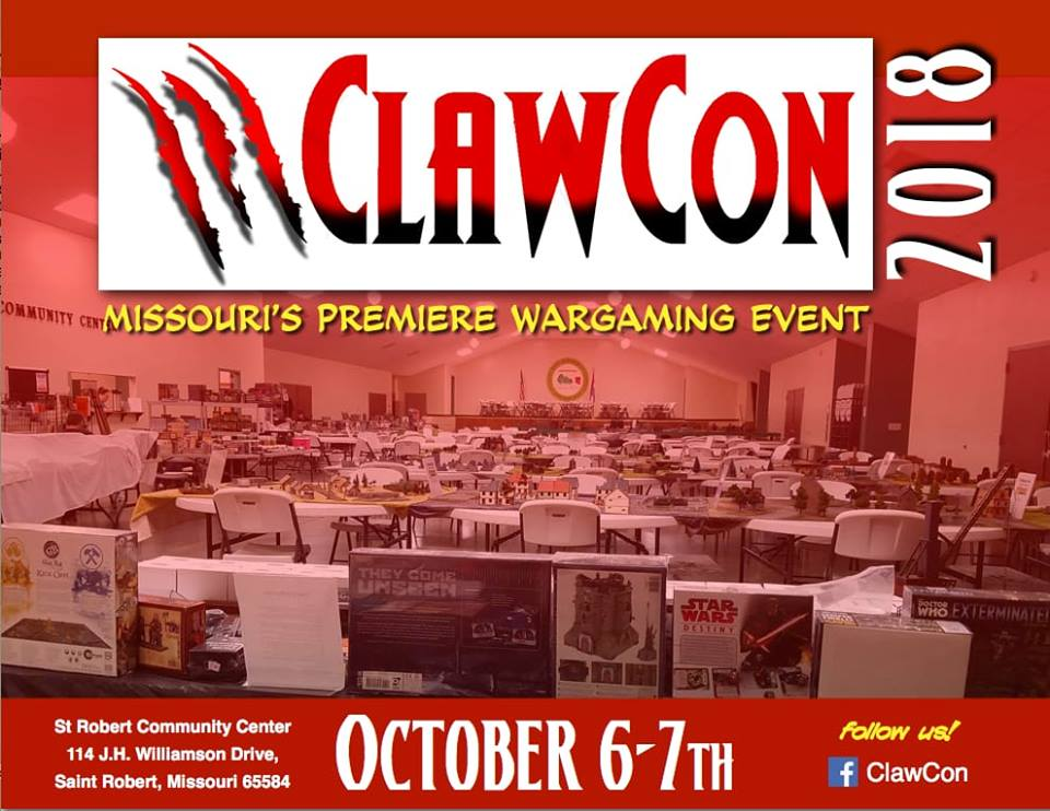 October 6_7 ClawCon PREMIERE WARGAMING EVENT