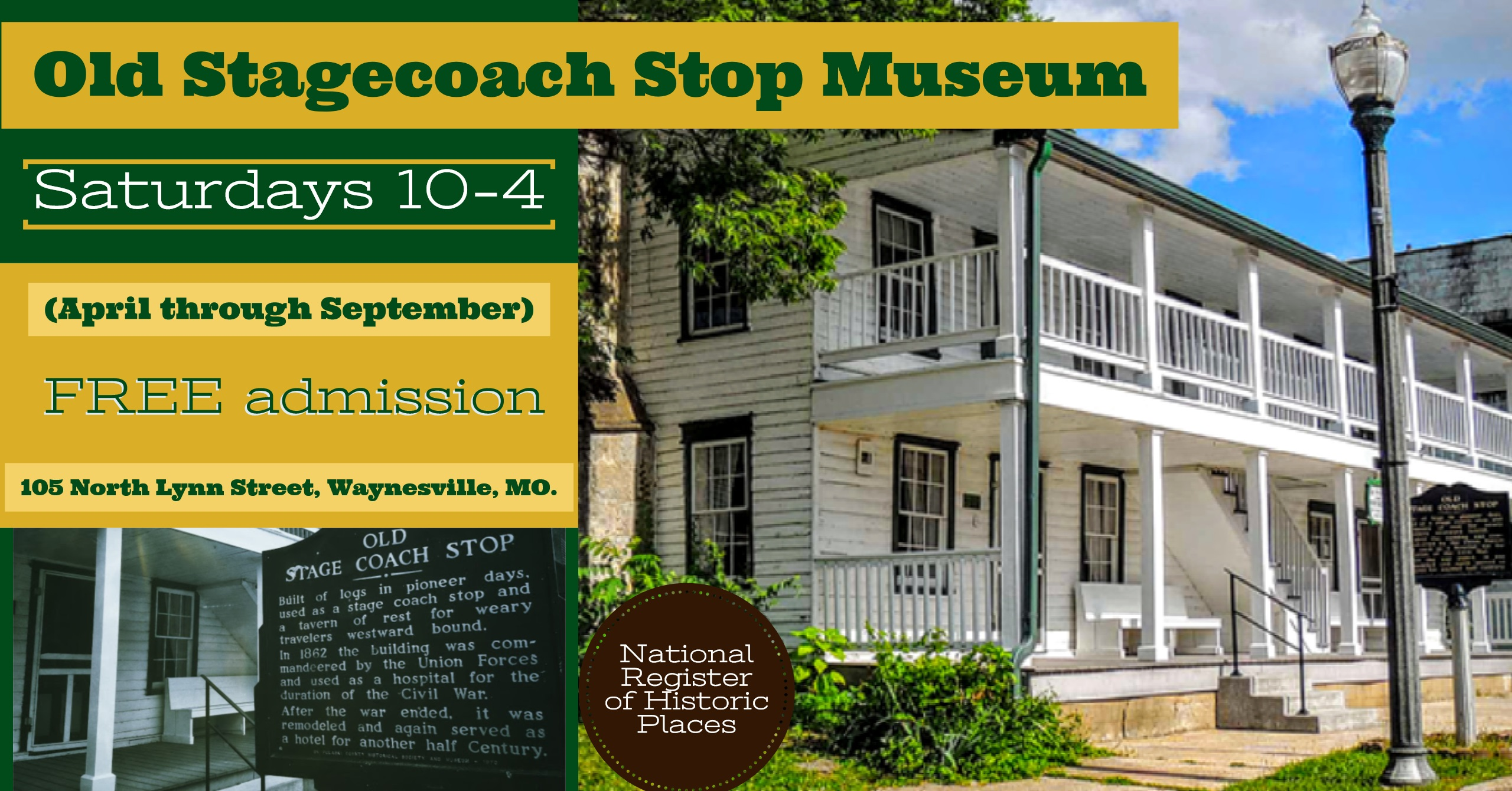 Waynesville's Old Stagecoach Stop is on the National Register of Historic Places