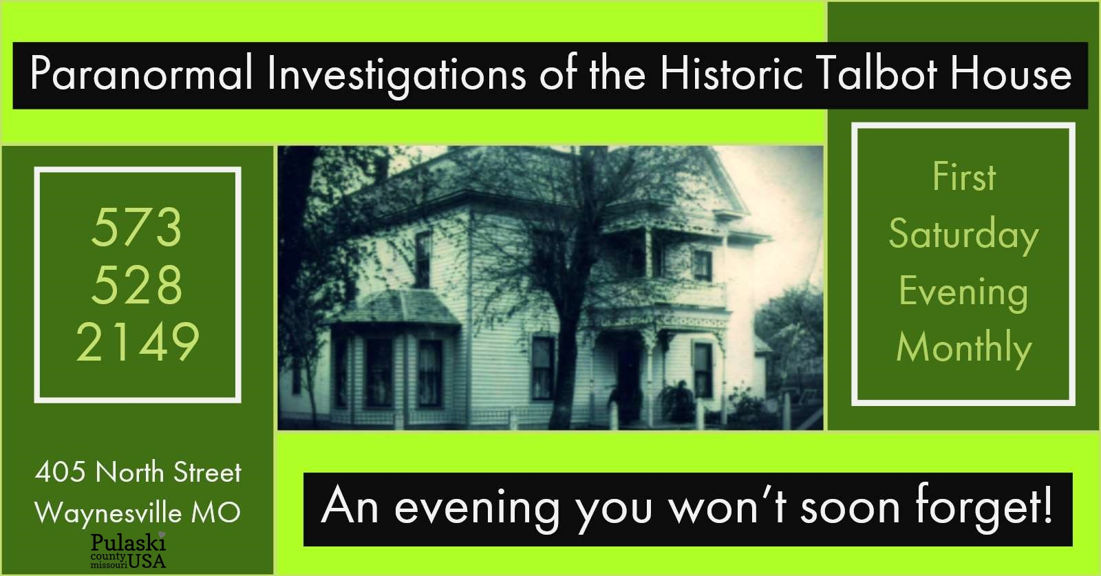 Paranormal Investigations of the Historic Talbot House Tagged