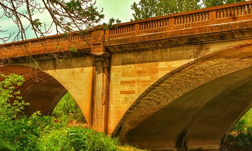 Roubidoux Bridge, a historic five-span concrete arch bridge on Route 66 in Waynesville, Missouri