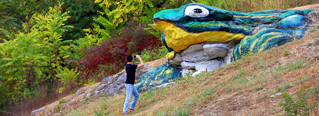 Man_taking_picture_of_Frog_Rock