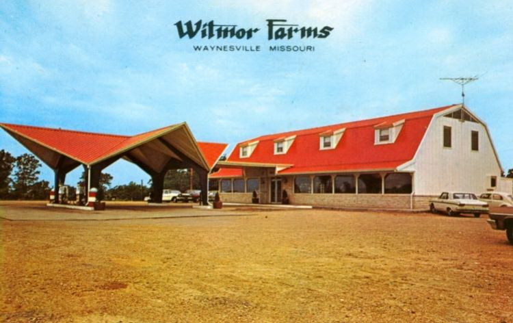Witmor Farms Restaurant began in 1963 as the third Nickerson Farms location. The structure was demolished in 2015. Image courtesy of 66postcards.com.